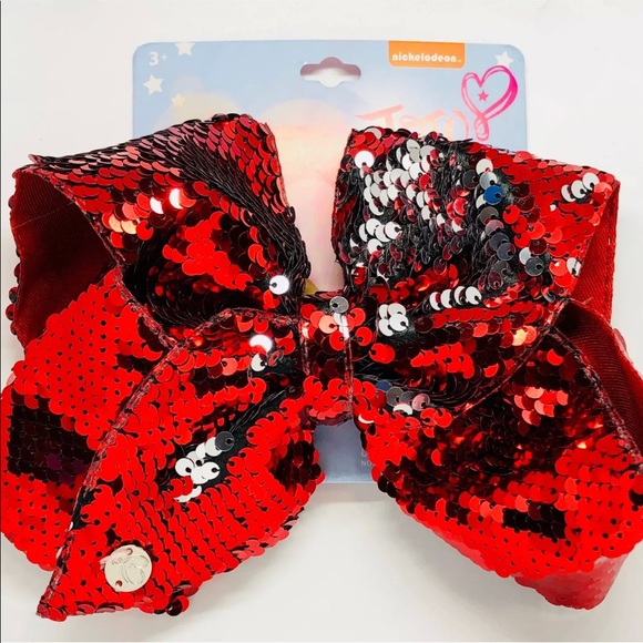 6d67951a682c8 JoJo Siwa Red large Reverse Sequin Bow